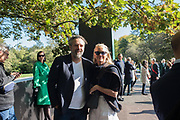 ELIZABETH MURDOCH, KEITH TYSON, Frieze opening day. Regent's Park. London. 2 October 2019