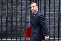 © Licensed to London News Pictures. 12/04/2018. London, UK. Secretary of State for Wales Alun Cairns arriving in Downing Street to attend a 'War Cabinet' meeting this afternoon. Discussion is expected on Britain's involvement on military action in Syria, following a suspected chemical attack. Photo credit : Tom Nicholson/LNP