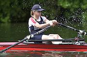Henley GREAT BRITAIN. LW1X Helen Mangan.  Women's Henley Regatta, Henley Reach, England. 23/06/2002. [Mandatory Credit Peter Spurrier Intersport Images]