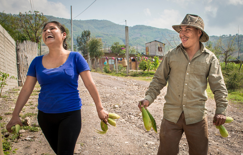 Since meeting each other at a town's fiesta over five years ago, the strong relationship between Rosalino and his 22-year-old wife, Sabina Pacheco Garcia, has been the motivation for Rosalino's need to find work. Although they have yet to set a date for a wedding, the two enjoy the time they spend with one another in their hometown of Santa Ana, even if it is in three month spurts. Nick Wagner / Alexia Foundation