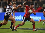 Ryan Crotty. Crusaders v Rebels. Super Rugby. Christchurch, New Zealand. Friday 13 February 2015. Copyright Photo: Andrew Cornaga / www.photosport.co.nz