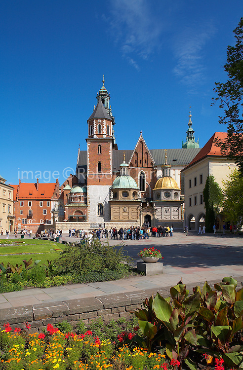Eastern Europe Poland Malopolska Krakow Royal Wawel Cathedral