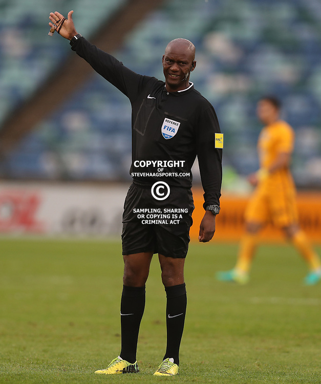 Referee Mr Victor Hlungwani during the Telkom Knockout quarterfinal  match between Kaizer Chiefs and Free State Stars at the Moses Mabhida Stadium , Durban, South Africa.6 November 2016 - (Photo by Steve Haag Kaizer Chiefs)