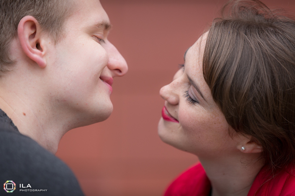 A romantic shoot with a young couple in the Northern Quarter, Manchester.