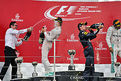 GP von Japan 2016 in Suzuka / 091016<br /> <br /> ***Formula One Grand Prix of Japan on October 9, 2016 in Suzuka.***<br /> <br /> GP von Japan 2016 in Suzuka / 091016<br /> <br /> ***Formula One Grand Prix of Japan on October 9, 2016 in Suzuka.***<br /> <br /> The podium (L to R): Andrew Shovlin (GBR) Mercedes AMG F1 Engineer celebrates with race winner Nico Rosberg (GER) Mercedes AMG F1; second placed Max Verstappen (NLD) Red Bull Racing and third placed Lewis Hamilton (GBR) Mercedes AMG F1.<br /> 09.10.2016. Formula 1 World Championship, Rd 17, Japanese Grand Prix, Suzuka, Japan, Race Day.<br /> - www.xpbimages.com, EMail: requests@xpbimages.com - copy of publication required for printed pictures. Every used picture is fee-liable. © Copyright: Moy / XPB Images