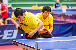 (Team JPN) MIYAUCHI Ryo and TAKAHASHI Toshiya in action during 15th Slovenia Open - Thermana Lasko 2018 Table Tennis for the Disabled, on May 11, 2018 in Dvorana Tri Lilije, Lasko, Slovenia. Photo by Ziga Zupan / Sportida
