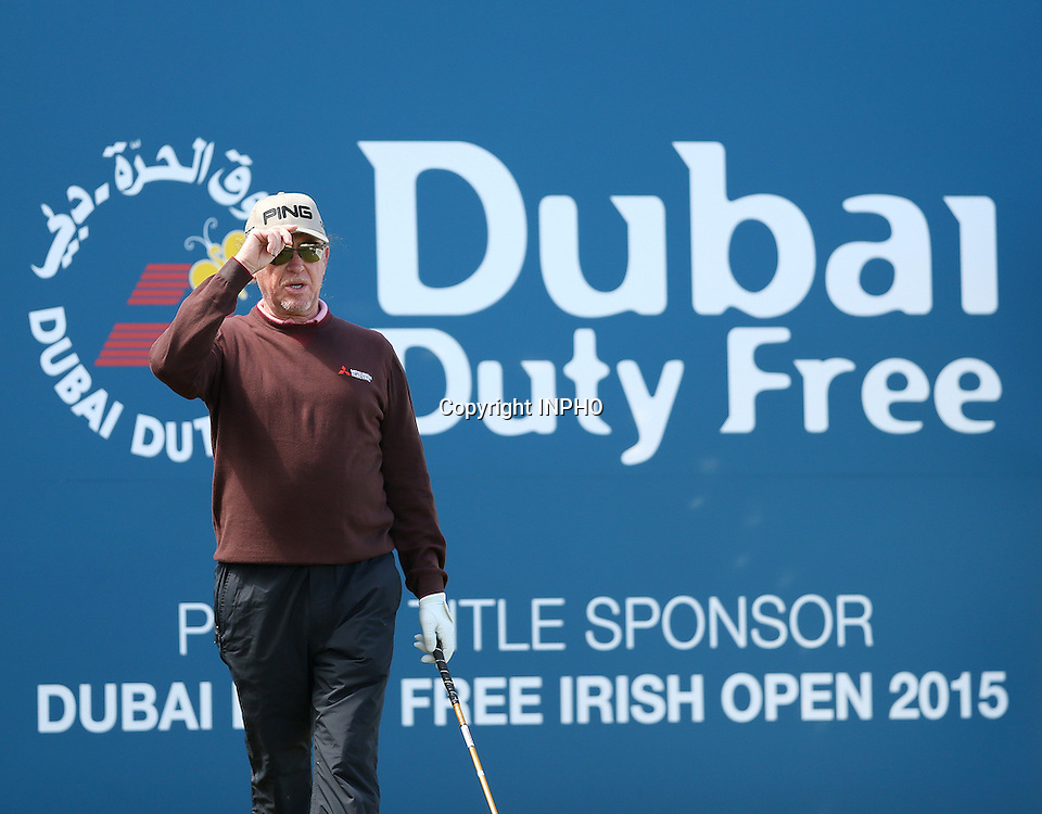 2015 Dubai Duty Free Irish Open Day 2, Royal County Down Golf Club, Co. Down 29/5/2015 <br /> Miguel Angel Jimenez<br /> Mandatory Credit &copy;INPHO/Presseye/Matt Mackey