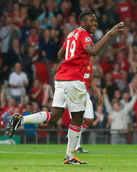 27.09.2011, Old Trafford, London, ENG, UEFA CL, Gruppe C, Manchester United (ENG) vs FC Basel (SUI), im Bild Manchester United's Danny Welbeck celebrates scoring the second goal against FC Basel 1893 // during the UEFA Champions League game, group C, Manchester United (ENG) vs FC Basel (SUI) at Old Trafford stadium in London, United Kingdom on 2011/09/27. EXPA Pictures © 2011, PhotoCredit: EXPA/ Propaganda Photo/ David Rawcliff +++++ ATTENTION - OUT OF ENGLAND/GBR+++++