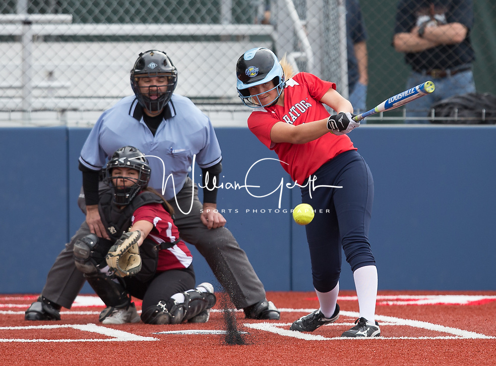 (Photograph by Bill Gerth/ for Max Preps/3/15/17) Saratoga vs Fremont in a pre season girls varsity softball game at Saratoga High School, Saratoga CA on 3/15/17. (Saratoga 11 Fremont 1)