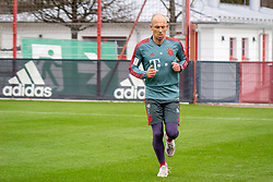 14.03.2019, Säbener Strasse, Muenchen, GER, 1. FBL, FC Bayern Muenchen vs 1. FSV Mainz 05, Training, im Bild Arjen Robben (FC Bayern) // during a trainings session before the German Bundesliga 26th round match between FC Bayern Muenchen and 1. FSV Mainz 05 at the Säbener Strasse in Muenchen, Germany on 2019/03/14. EXPA Pictures © 2019, PhotoCredit: EXPA/ Lukas Huter