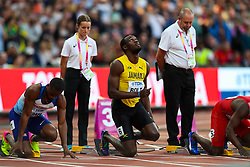 London, 2017-August-05. Usain Bolt of Jamaica ahead of his men's 100m semi-final at the IAAF World Championships London 2017. Paul Davey.