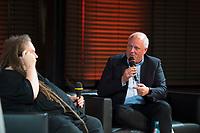 DEU, Deutschland, Germany, Berlin, 10.12.2018: Willy Brandt Lecture der Bundeskanzler-Willy-Brandt-Stiftung mit dem Digitalpionier und Autor Jaron Lanier und Ulrich Kelber (MdB, SPD), Bundesbeauftragter für den Datenschutz und die Informationsfreiheit. Foto: Jens Jeske/Bundeskanzler-Willy-Brandt-Stiftung