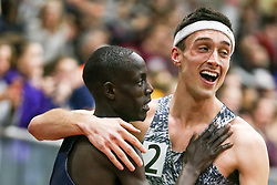 Cheserek Piazza celebrate, mile<br /> Boston University Athletics<br /> Hemery Invitational Indoor Track & Field