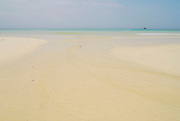 Waves coming to the beach at Bolanos island. Las Perlas archipelago, Panama province, Panama, Central America.