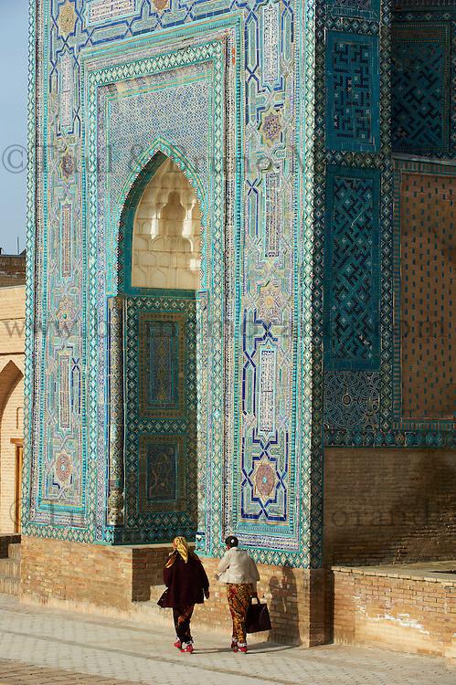 Ouzbekistan, Samrakand, classe patrimoine mondial de l Unesco, necropole Chah I Zinde // Uzbekistan, Samarkand, Unesco World Heriatge, Chah I Zinde necropolis