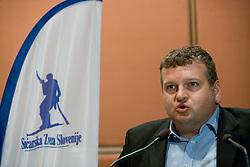 President of SZS Tomaz Lovse at Elections for Alpine Ski president of Slovenian Ski Federation, on April 7, 2010, in Ljubljana, Slovenia.  (Photo by Vid Ponikvar / Sportida)