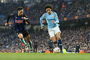 19 Leroy Sané for Manchester City chased by Rotherham United defender Zak Vyner (2), on loan from Bristol City, during the The FA Cup 3rd round match between Manchester City and Rotherham United at the Etihad Stadium, Manchester, England on 6 January 2019.