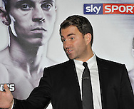 Picture by Alan Stanford/Focus Images Ltd +44 7915 056117<br />03/10/2013<br />Promoter Eddie Hearn pictured during a Matchroom Sports press conference at International Hotel, Canary Wharf, London.