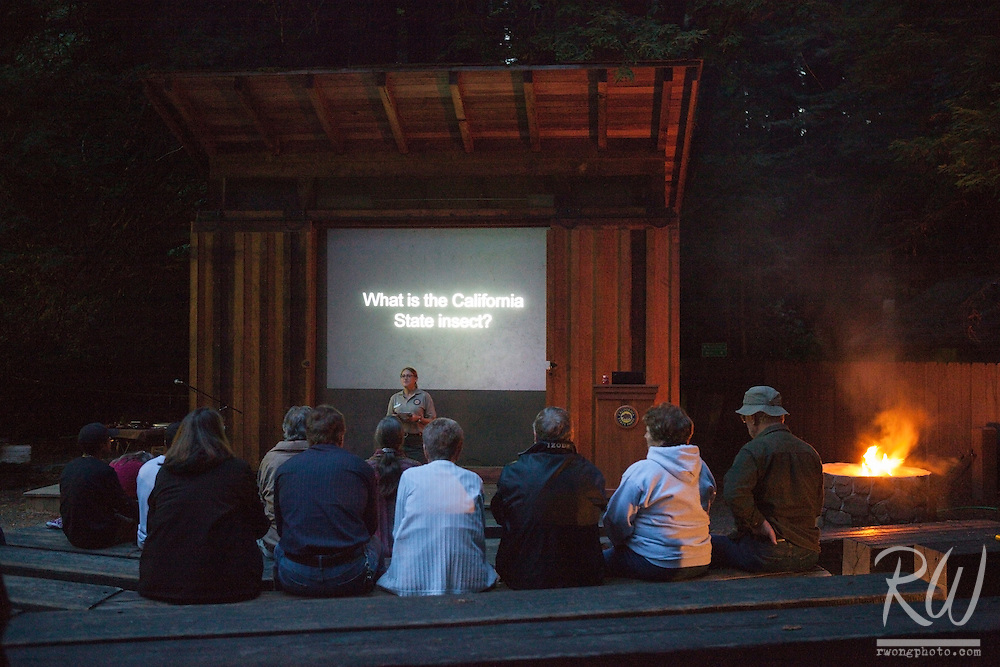 Burlington Campground Campfire Program, Humboldt Redwoods State Park, California