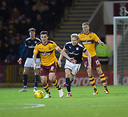 23rd December 2017, Fir Park, Motherwell, Dundee; Scottish Premier League football, Motherwell versus Dundee; Motherwell's Carl McHugh and Dundee's A-Jay Leitch-Smith