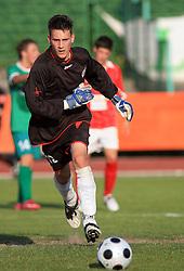 Goalkeeper of ALuminij Denis Zajc at final match of 2nd SNL league between NK Olimpija in NK Aluminij, on May 23, 2009, ZAK, Ljubljana, Slovenia. Aluminij won 2:1. NK Olimpija is a Champion of 2nd SNL and thus qualified to 1st Slovenian football league for season 2009/2010. (Photo by Vid Ponikvar / Sportida)