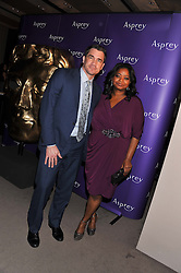 Left to right, actress OCTAVIA SPENCER and TATE TAYLOR at the Asprey BAFTA Party held at Asprey, 167 New Bond Street, London on 11th February 2012.