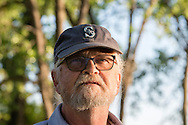 Kevin Boehler, discusses his ordeal with potential fracking oil exploration on his farm, on the Yellowstone River, east of Fairview Montana, near its confluence with the Missouri River