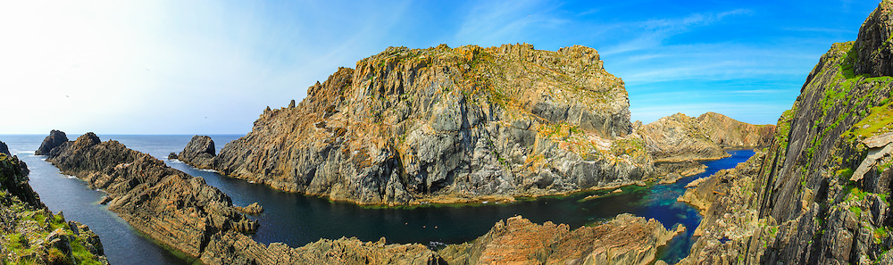 View of the Malin Head cliffs from below offering a 180 degree field of view.<br />
