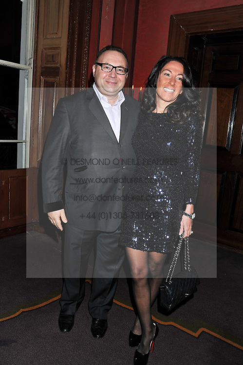 JONATHAN & KATRINA SHALIT at the 39th birthday party for Nick Candy in association with Ciroc Vodka held at 5 Cavindish Square, London on 21st Januatu 2012.