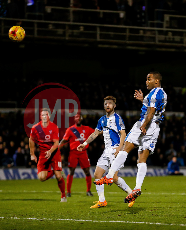 Jermaine Easter of Bristol Rovers scores a headed goal to make it 1-1 - Mandatory byline: Rogan Thomson/JMP - 07966 386802 - 12/12/2015 - FOOTBALL - Memorial Stadium - Bristol, England - Bristol Rovers v York City - Sky Bet League 2.