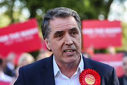 May 5, 2017 - Liverpool, Merseyside, UK - Liverpool, UK. Steve Rotherham, the newly elected metro mayor of Liverpool, at an event with Labour members and the media in Liverpool following the results of the local and Mayoral elections. (Credit Image: © Ian Hinchliffe/London News Pictures via ZUMA Wire)