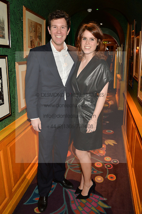 PRINCESS EUGENIE OF YORK and JACK BROOKSBANK at the launch of GP Nutrition held at Annabel's, 44 Berkeley Square, London on 26th January 2016.