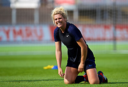 NEWPORT, WALES - Thursday, August 30, 2018: England's Millie Bright during a training session at Rodney Parade ahead of the final FIFA Women's World Cup 2019 Qualifying Round Group 1 match between Wales and England. (Pic by David Rawcliffe/Propaganda)