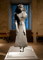 Egyptian statue at Neues Museum or New Museum on Museumsinsel or Museum Island in Berlin