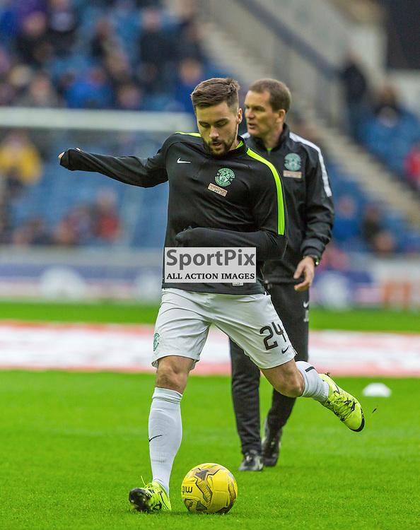 Darren McGregor warms up before the match between Rangers and Hibernian (c) ROSS EAGLESHAM | Sportpix.co.uk
