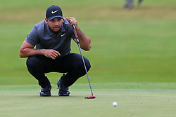 September 8, 2018 - Newtown Square, Pennsylvania, United States - Jason Day lines up a putt on the 10th green during the third round of the 2018 BMW Championship. (Credit Image: © Debby Wong/ZUMA Wire)