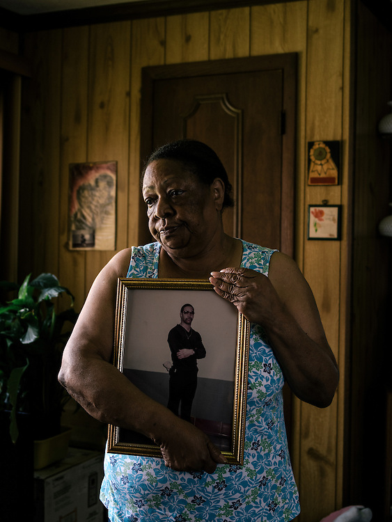Clara Newton, mother of Odell, who has been incarcerated since he was 16. At her home in Baltimore.
