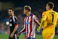 Atletico de Madrid´s Fernando Torres and Bayer 04 Leverkusen´s goalkeeper Leno during the UEFA Champions League round of 16 second leg match between Atletico de Madrid and Bayer 04 Leverkusen at Vicente Calderon stadium in Madrid, Spain. March 17, 2015. (ALTERPHOTOS/Victor Blanco)