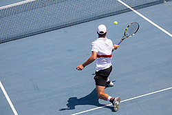 Antoine Escoffier (FRA) play against David Poljak (CZE) at ATP Challenger Zavarovalnica Sava Slovenia Open 2018, on August 5, 2018 in Sports centre, Portoroz/Portorose, Slovenia. Photo by Urban Urbanc / Sportida