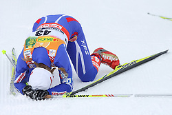 Exhausted Ivana Janeckova of Czech republic at Ladies` Pursuit 7,5 km Classic + 7,5 km Free at FIS Nordic World Ski Championships Liberec 2008, on February 21, 2009, in Vestec, Liberec, Czech Republic. (Photo by Vid Ponikvar / Sportida)
