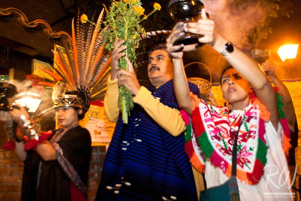 Dia de Los Muertos Novenaria at Olvera Street, Los Angeles, California