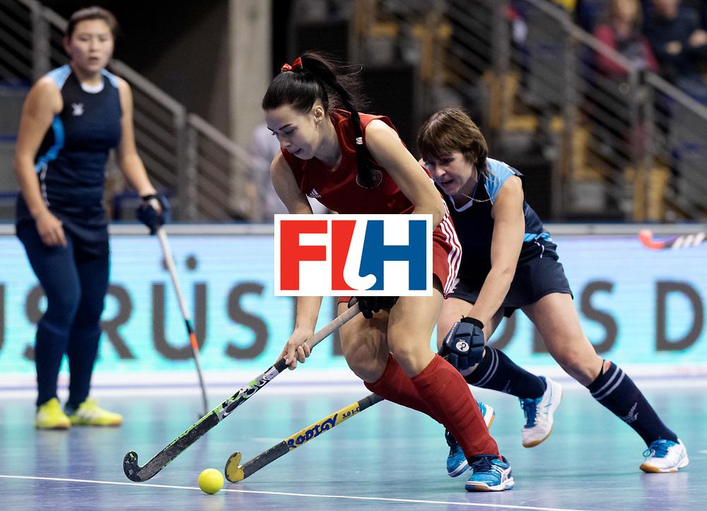 BERLIN - Indoor Hockey World Cup<br /> Women: Kazakhstan - Belarus<br /> foto: NIKITSINA Maryna.<br /> WORLDSPORTPICS COPYRIGHT FRANK UIJLENBROEK