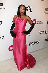 February 24, 2019 - West Hollywood, CA, USA - LOS ANGELES - FEB 24:  Malina Moye at the Elton John Oscar Viewing Party on the West Hollywood Park on February 24, 2019 in West Hollywood, CA (Credit Image: © Kay Blake/ZUMA Wire)