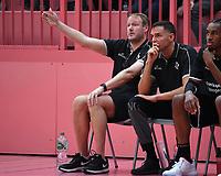 Basketball 2. Bundesliga 2019/2019  Testspiel  14.09.2019 Tigers Tuebingen - Starwings Basel Trainer Doug Spradley (li, Tigers) und Co-Trainer Andy Hipsher (Tigers) nachdenklich