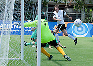 Male's football match 7-a-side between SO Poland and SO Austria during 2011 Special Olympics World Summer Games Athens on June 26, 2011..The idea of Special Olympics is that, with appropriate motivation and guidance, each person with intellectual disabilities can train, enjoy and benefit from participation in individual and team competitions...Greece, Athens, June 26, 2011...Picture also available in RAW (NEF) or TIFF format on special request...For editorial use only. Any commercial or promotional use requires permission...Mandatory credit: Photo by © Adam Nurkiewicz / Mediasport