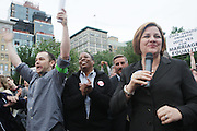 New York City Council Speaker Christine Quinn at The Proposition 8 Protest March and Rally sponsored by New York Marriage Equality Now held at Union Square Park on May 26, 2009 in New York City