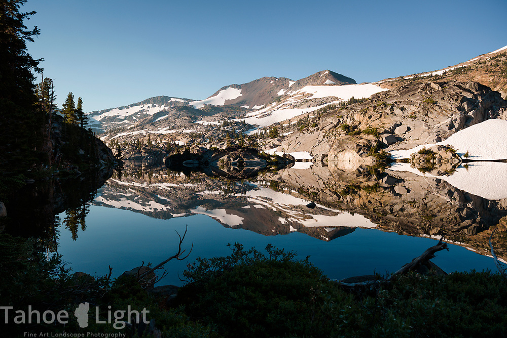 Fontanelles lake reflection in Desolation Wilderness.