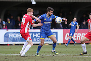 George Francomb of AFC Wimbledon during the Sky Bet League 2 match between AFC Wimbledon and Accrington Stanley at the Cherry Red Records Stadium, Kingston, England on 5 March 2016. Photo by Stuart Butcher.