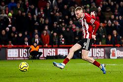 Oliver McBurnie of Sheffield United scores a goal to make it 1-0 - Mandatory by-line: Robbie Stephenson/JMP - 10/01/2020 - FOOTBALL - Bramall Lane - Sheffield, England - Sheffield United v West Ham United - Premier League
