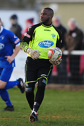 LOUIS CONNOR GOALKEEPER STRATFORD TOWN FC, Kettering Town v Stratford Town Evo Stik Southern League Latimer Park, Saturday 9th December 2017. Score 2-0